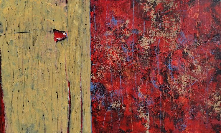 """Rustic and Red"" original fine art by Nancy Eckels"