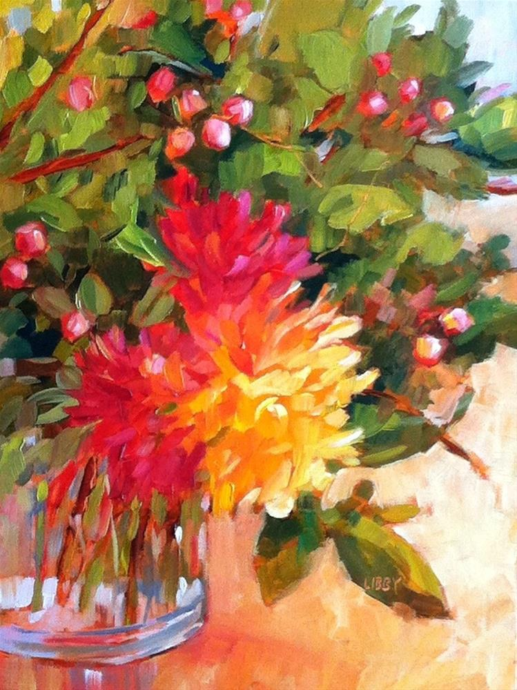 """Glow Bouquet"" original fine art by Libby Anderson"
