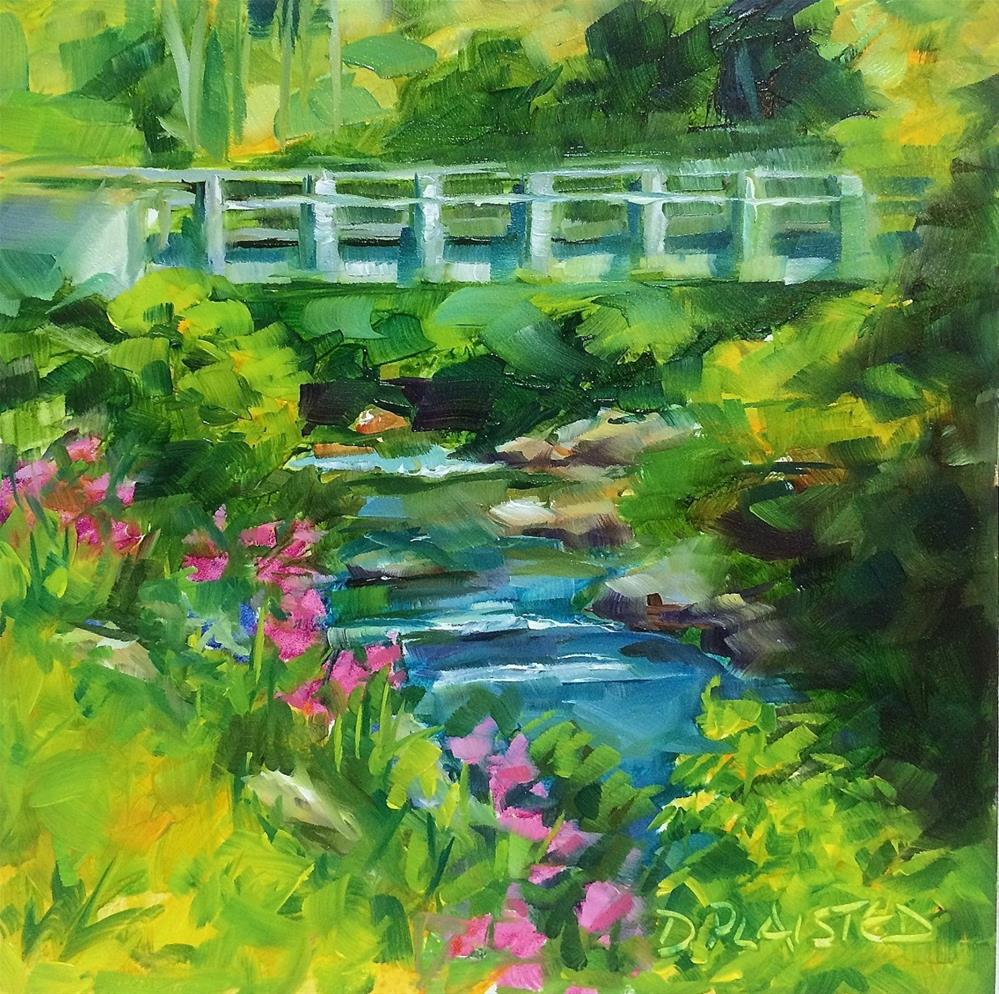 """Blue Ridge Bridge"" original fine art by Diane Plaisted"