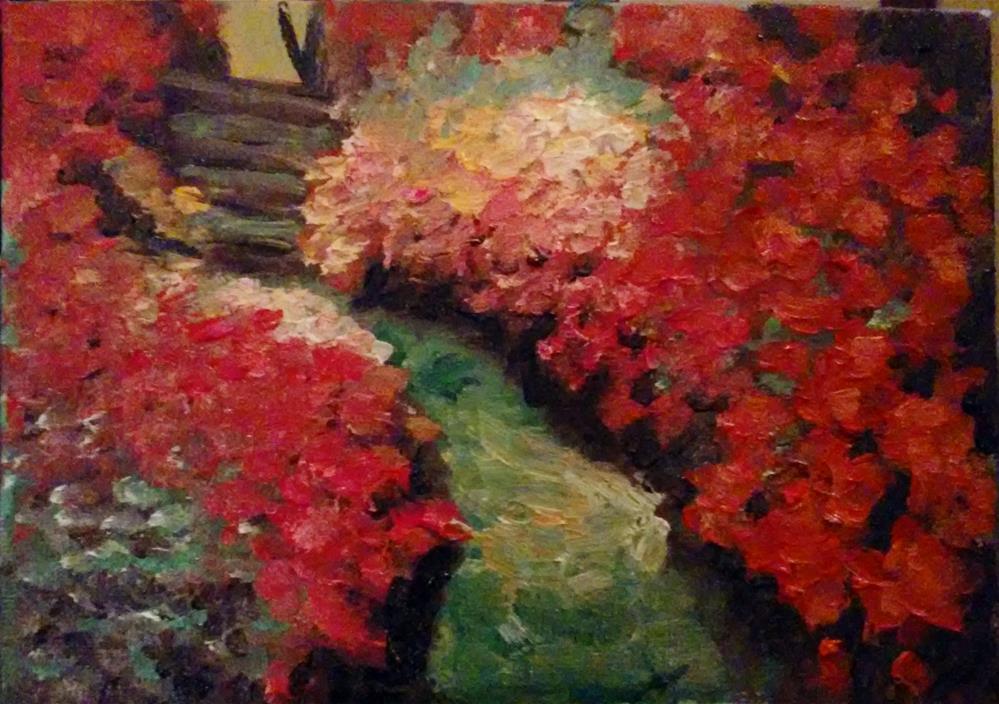 """""""The Garden Path"""" original fine art by Gerri Obrecht"""