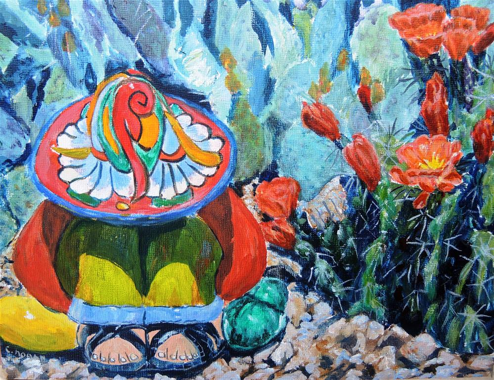 """Siesta By The Cacti"" original fine art by Candi Hogan"