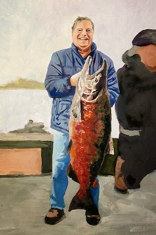 """Get your Trophy Catch Painted"" original fine art by Andy Sewell"