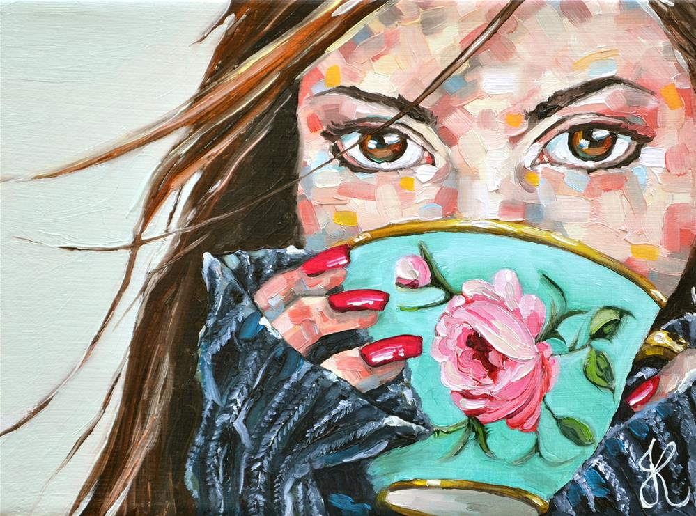 """Cup of prettiness"" original fine art by Jacinthe Rivard"