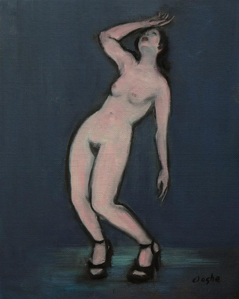 """Fainting Woman"" original fine art by Angela Ooghe"