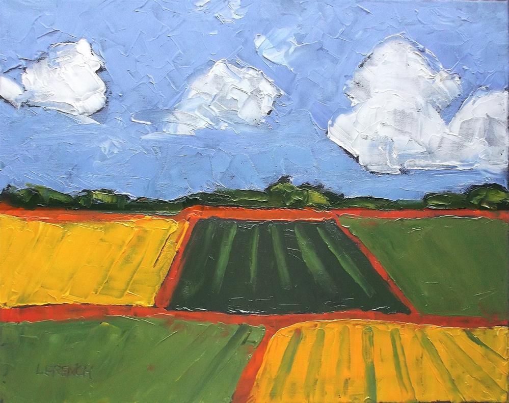 """""""California Farm Fields"""" original fine art by lynne french"""