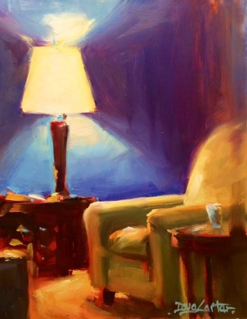 """RELAXING"" original fine art by Doug Carter"