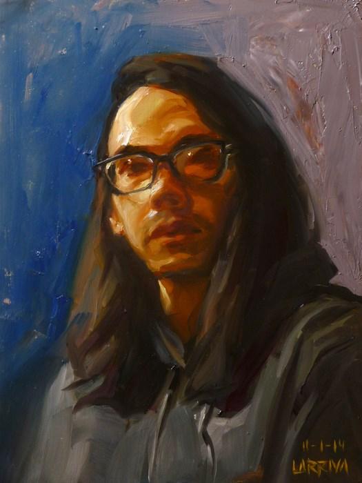 """Self Portrait, November 1, 2014"" original fine art by John Larriva"