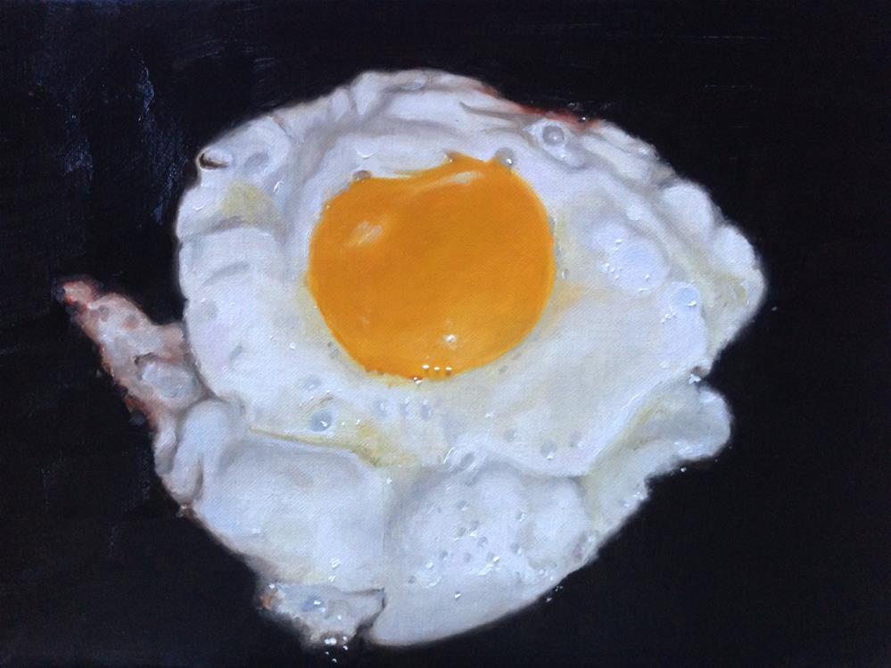 """Fried Egg"" original fine art by James Coates"