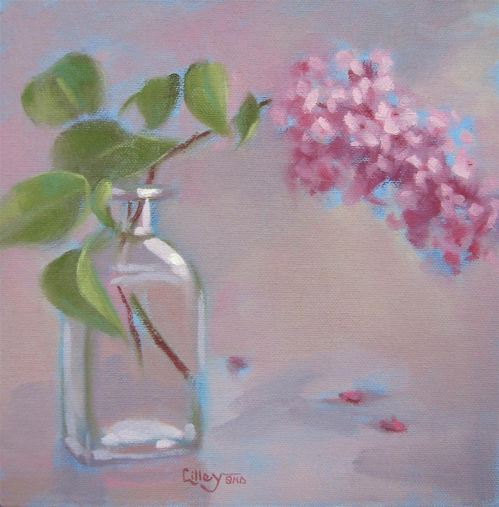 """Sprig of Purple Lilac"" original fine art by Maresa Lilley"