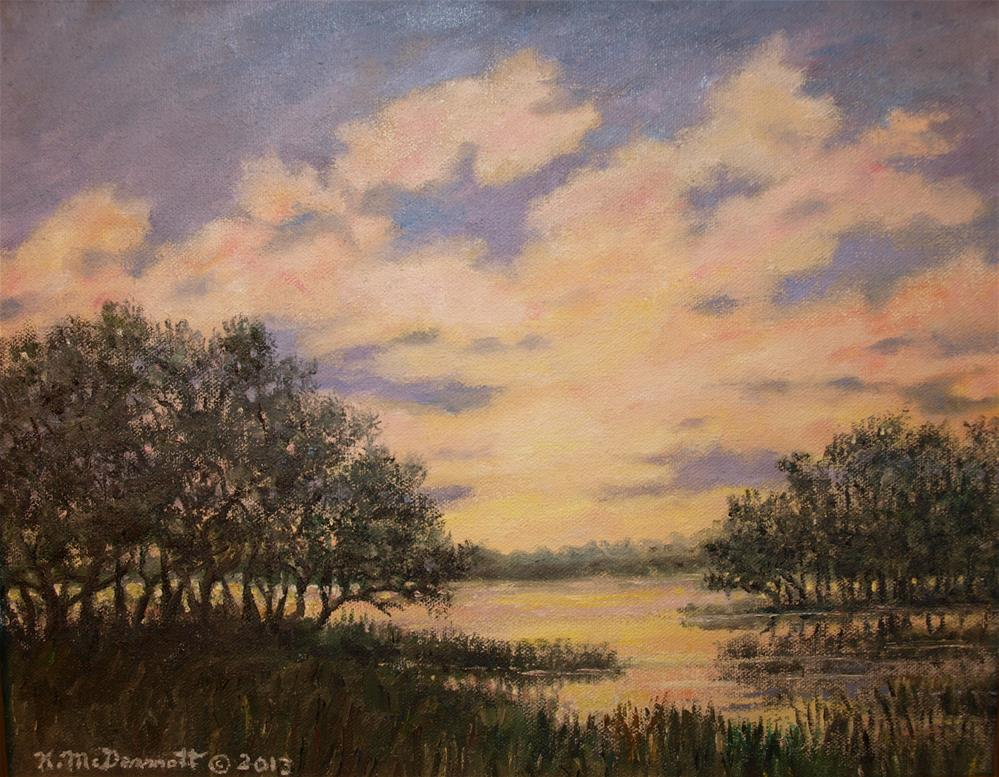 """Marsh Sketch # 6"" original fine art by Kathleen McDermott"