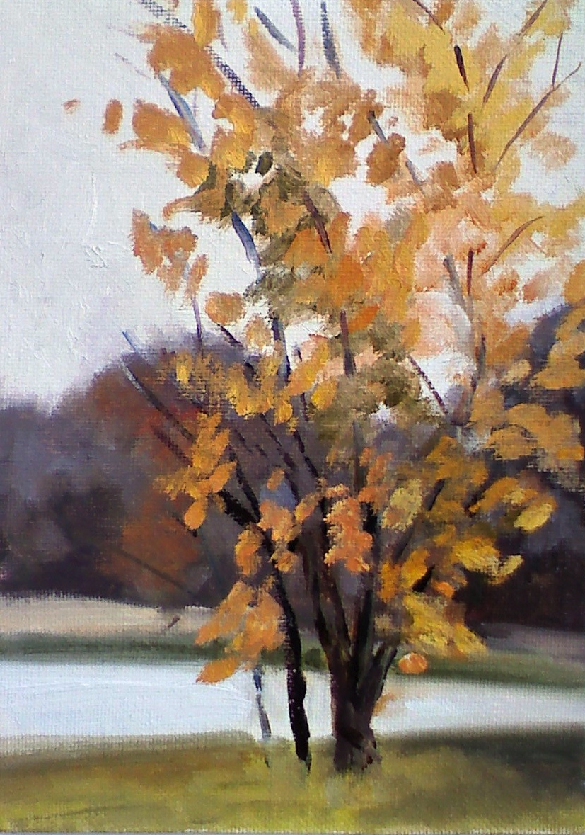 """Last Leaves"" original fine art by Judith Anderson"