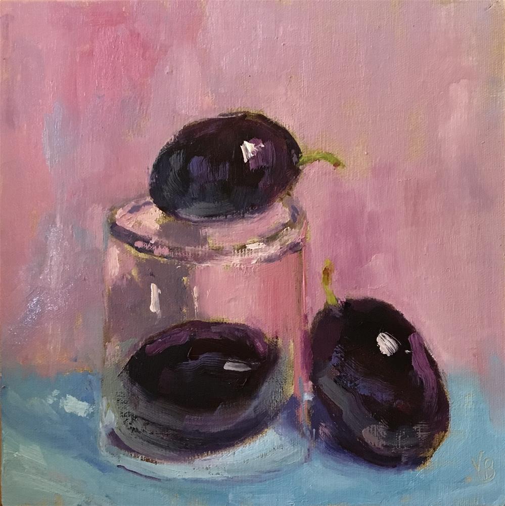 """""""Plum under Glass"""" original fine art by Victoria  Biedron"""