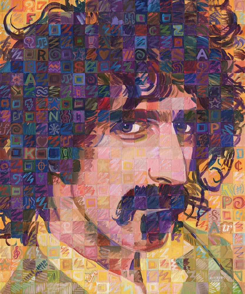 """""""Frank Zappa #2"""" original fine art by Randal Huiskens"""