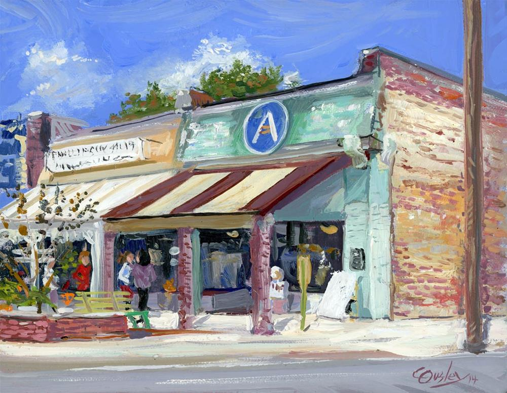 """""""Corner in Bell Buckle Tennessee"""" original fine art by Chris Ousley"""