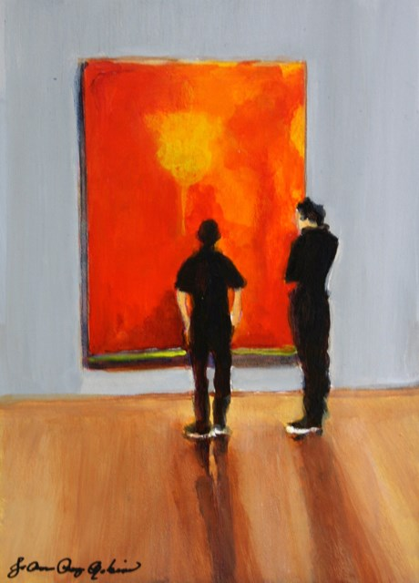 """Orange and Black"" original fine art by JoAnne Perez Robinson"