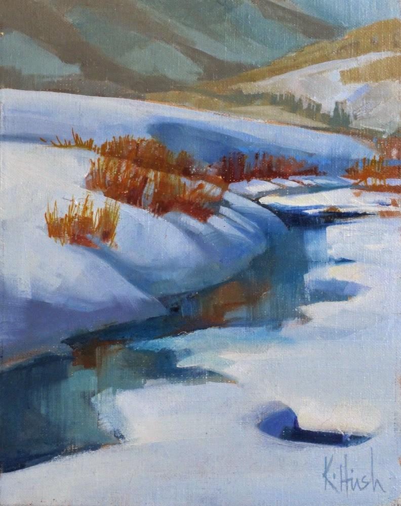 """Snow Bound Slate"" original fine art by kathy hirsh"