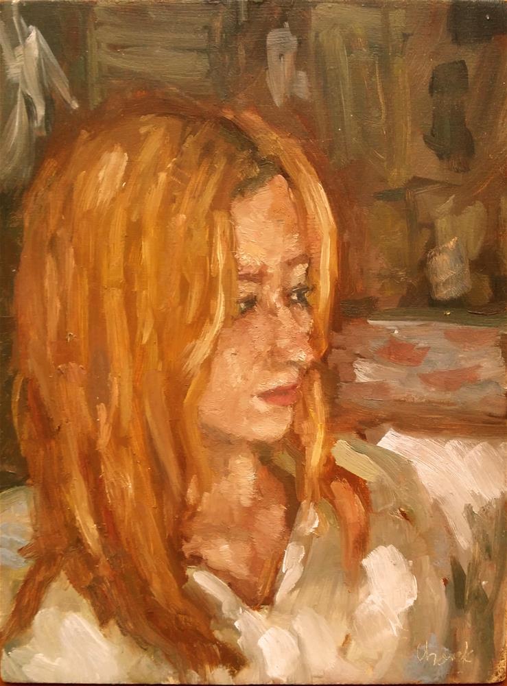 """Caroline"" original fine art by Aleksandra Uzarek"