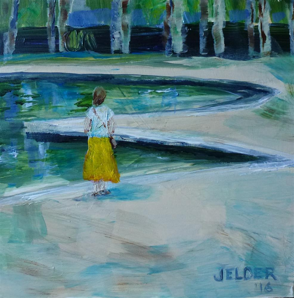 """Yellow Skirt"" original fine art by Judith Elder"