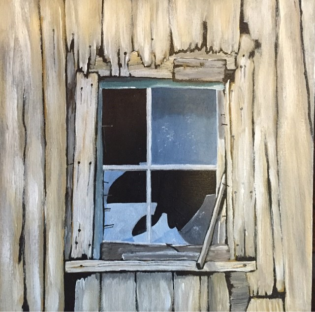 """Shattered"" original fine art by Helen Kuhn"