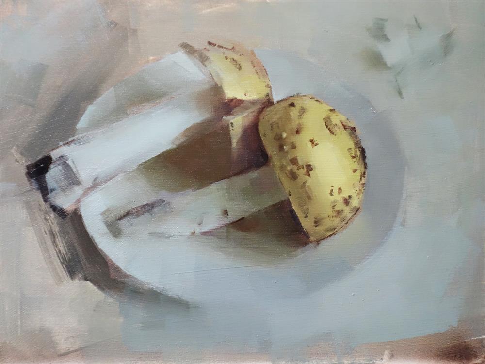 """Wild Mushrooms and Garlic Skin (no.109)"" original fine art by Michael William"