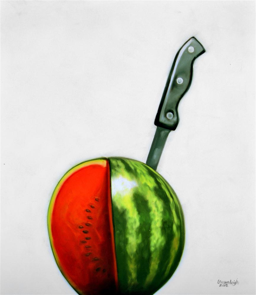 """Sliced Watermelon"" original fine art by Lauren Pretorius"