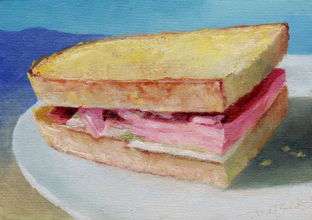 """ham sandwich"" original fine art by V. DeBak"