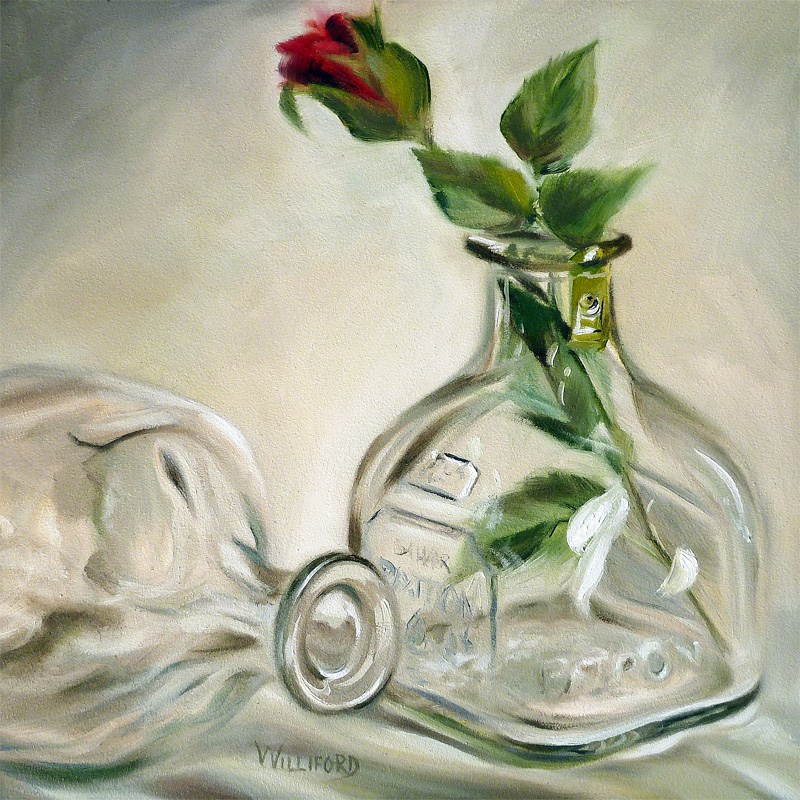 """Tequila Rose"" original fine art by Kathleen Williford"