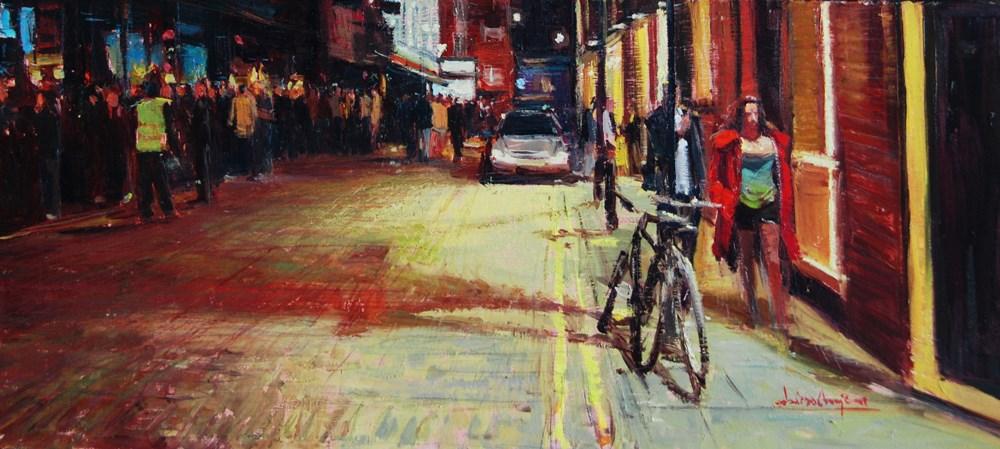 """Rupert Street, Soho"" original fine art by Adebanji Alade"