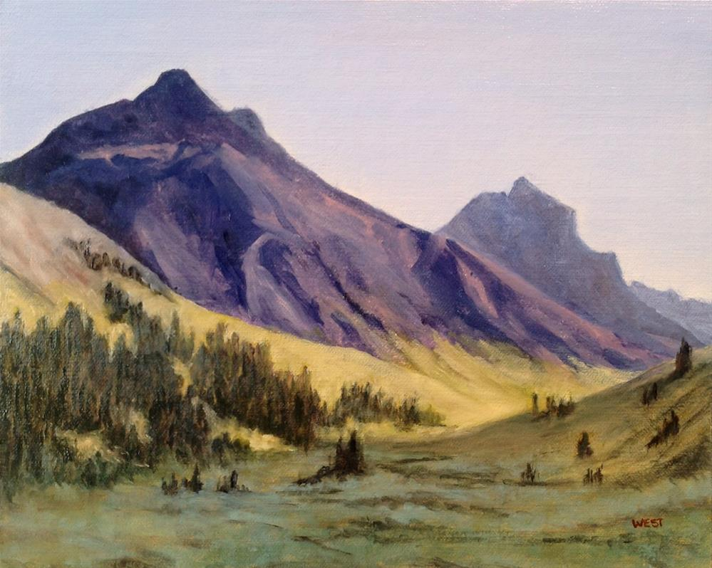 """Ouray Colorado Landscape"" original fine art by James West"