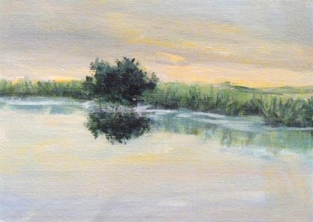 """Peaceful Morning"" original fine art by Jo-Ann Sanborn"