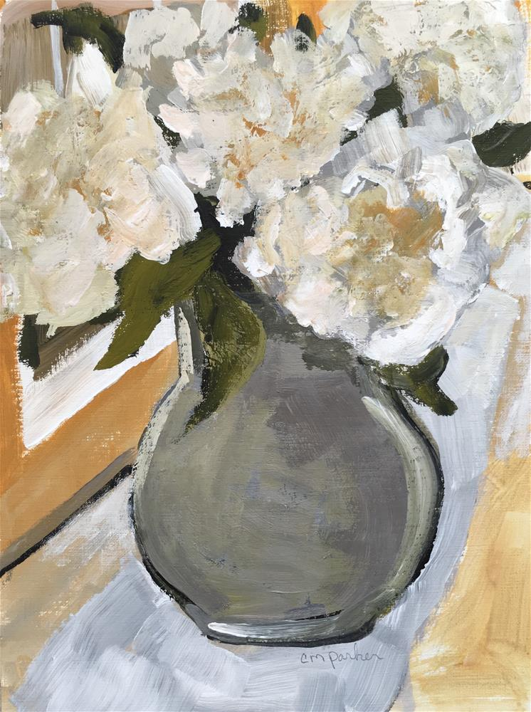 """Still life with flowers"" original fine art by Christine Parker"
