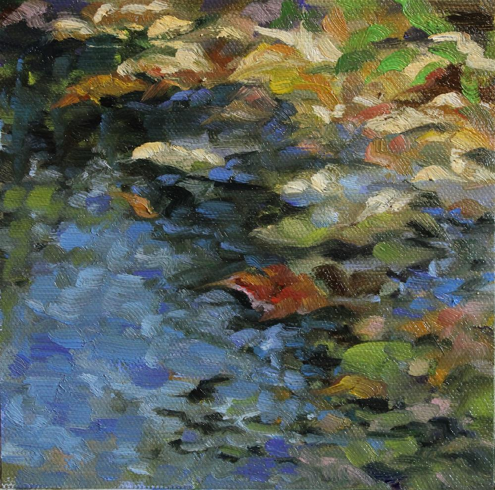 """Leafy Pond"" original fine art by H.F. Wallen"
