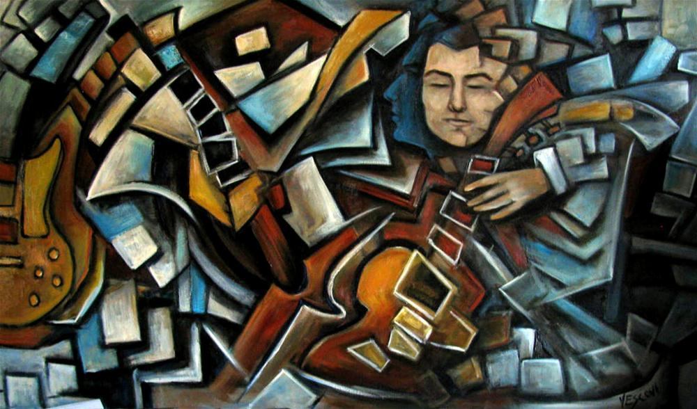 """Guitar Zen"" original fine art by Valerie Vescovi"