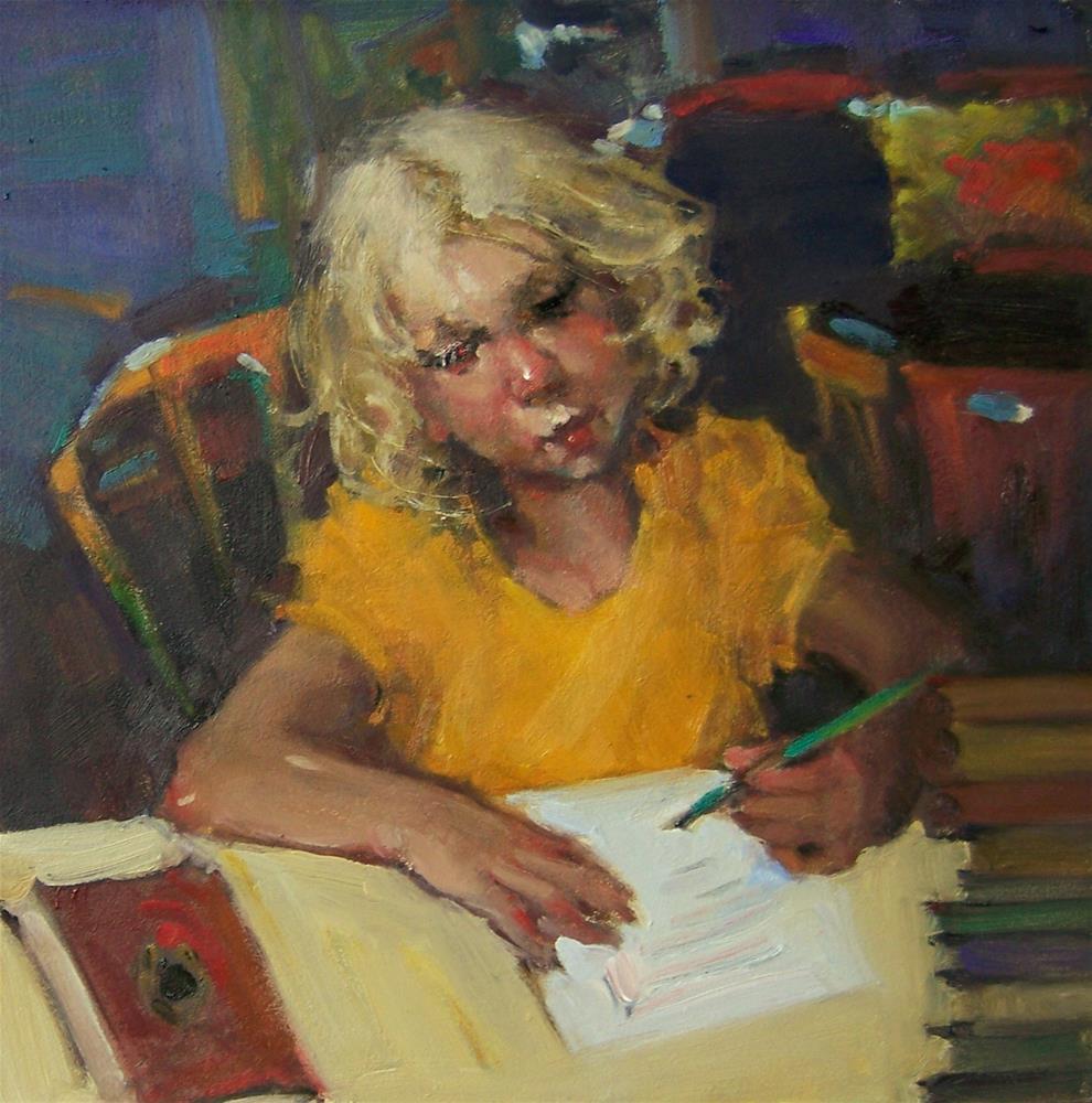 """Sedulously"" original fine art by Kim Roberti"