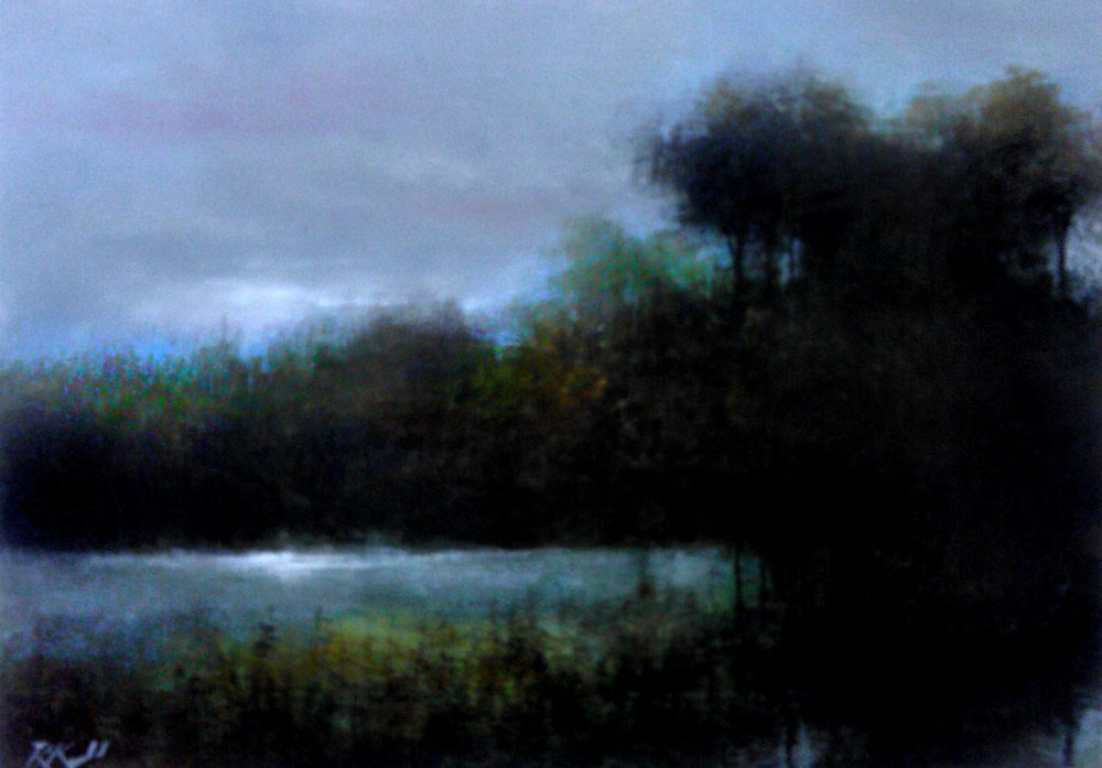 """Early Morning Wetlands"" original fine art by Bob Kimball"