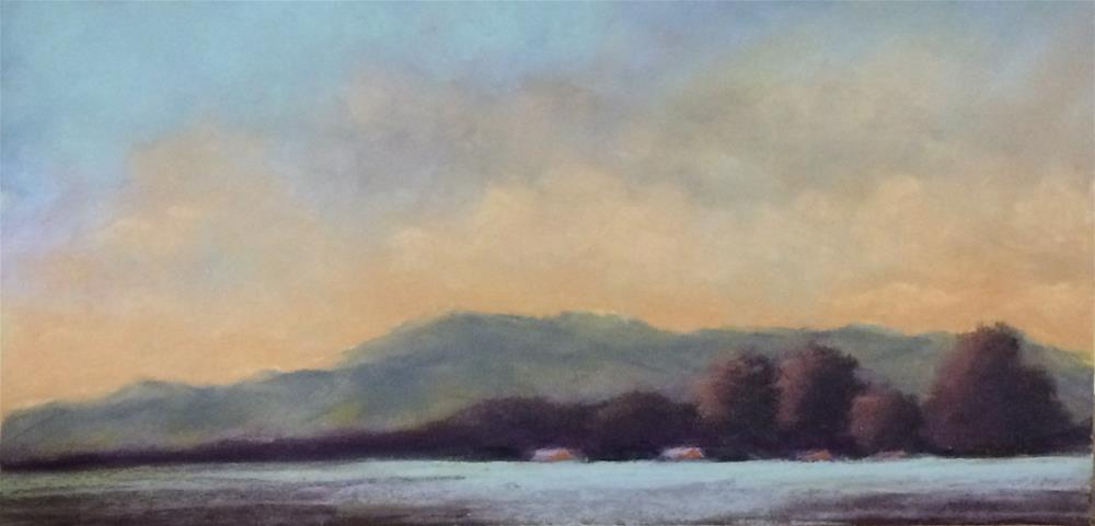 """""""Foothills at Dusk"""" original fine art by Christina Karras"""