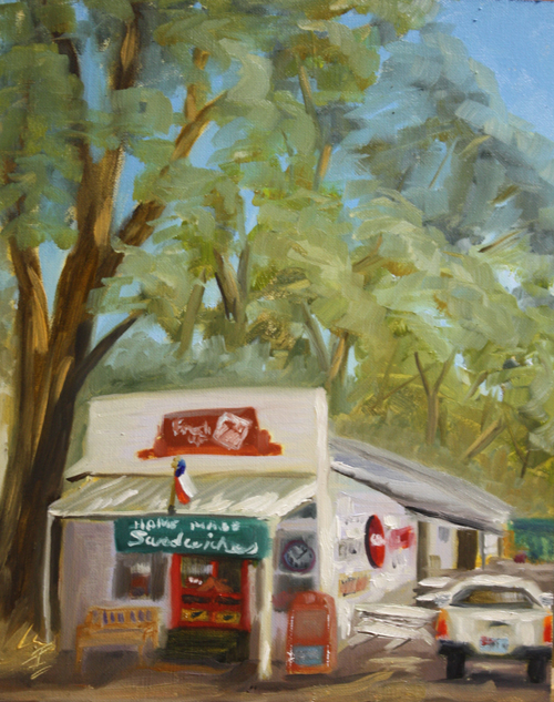 """Avenue B Grocery"" original fine art by Jane Frederick"
