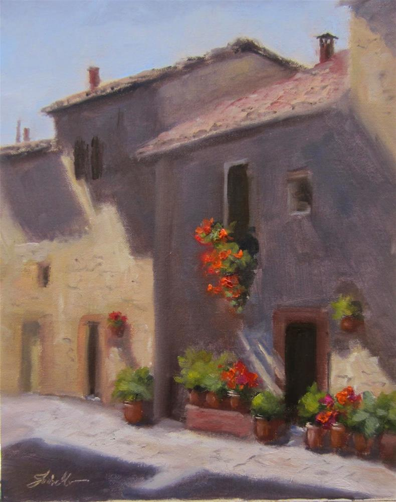 """Pienza Light"" original fine art by Pat Fiorello"