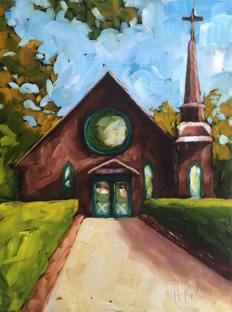 """Church by the Side of the Road"" original fine art by Hallie Kohn"