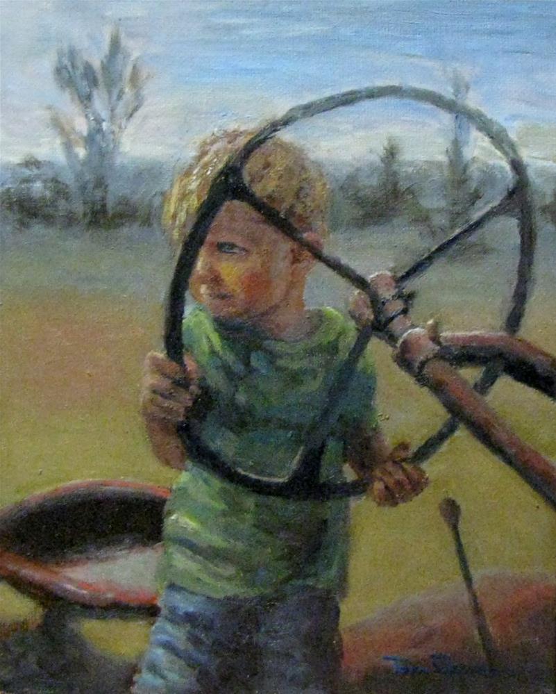 """tractor time"" original fine art by tom dawson"
