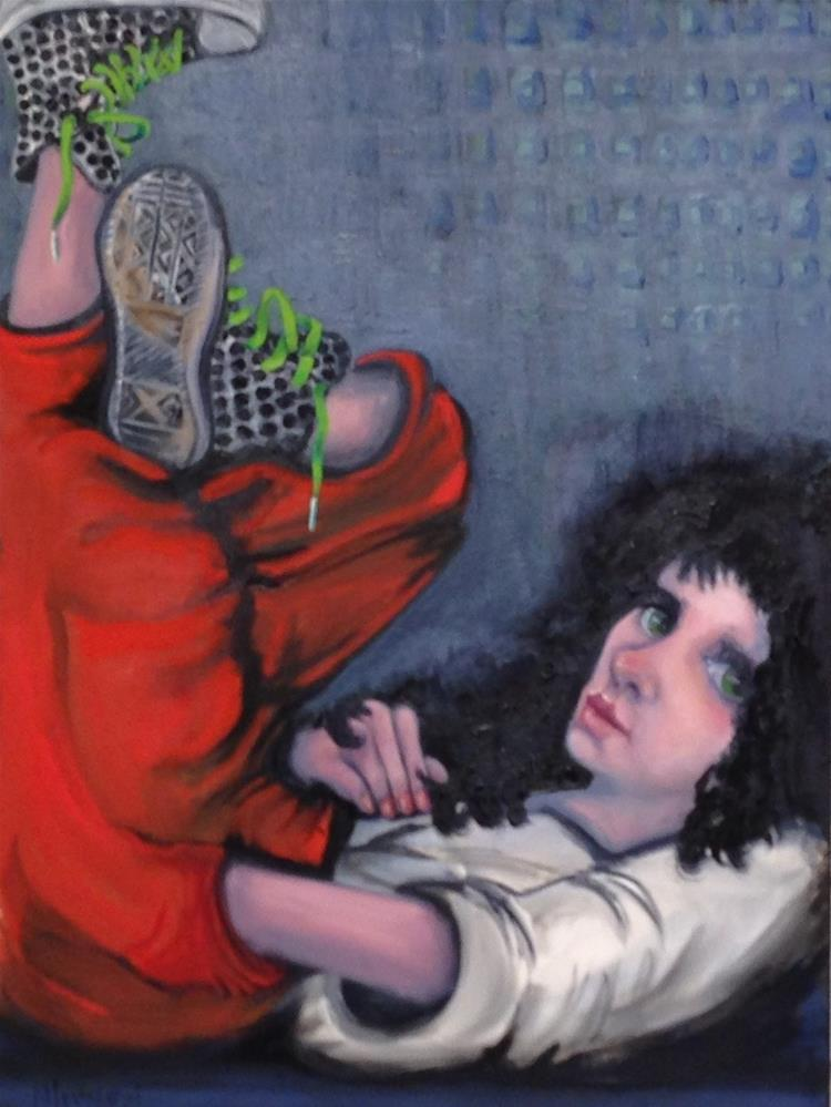 """My Favorite Sneekers"" original fine art by Nancy Levinson"