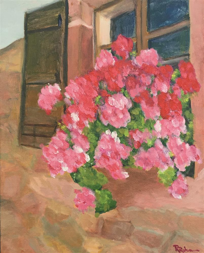 """French Window box"" original fine art by Renee Robison"