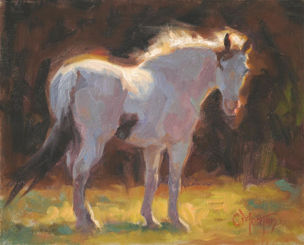 """The Medicine Hat Mare"" original fine art by Cecile W. Morgan"