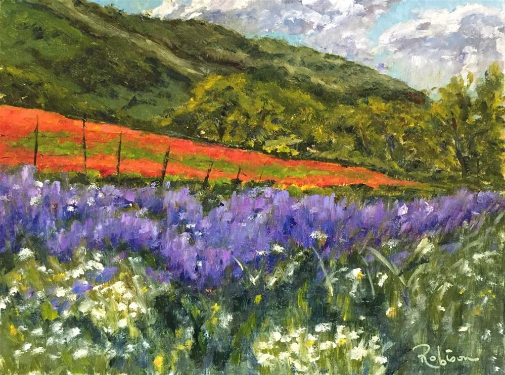"""The Hills of Castelluccio "" original fine art by Renee Robison"