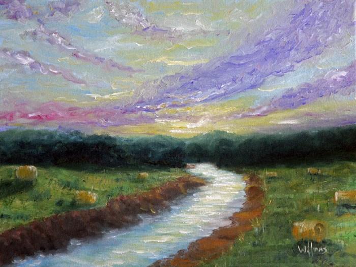 """A River Runs Through It"" original fine art by Sunny Williams"