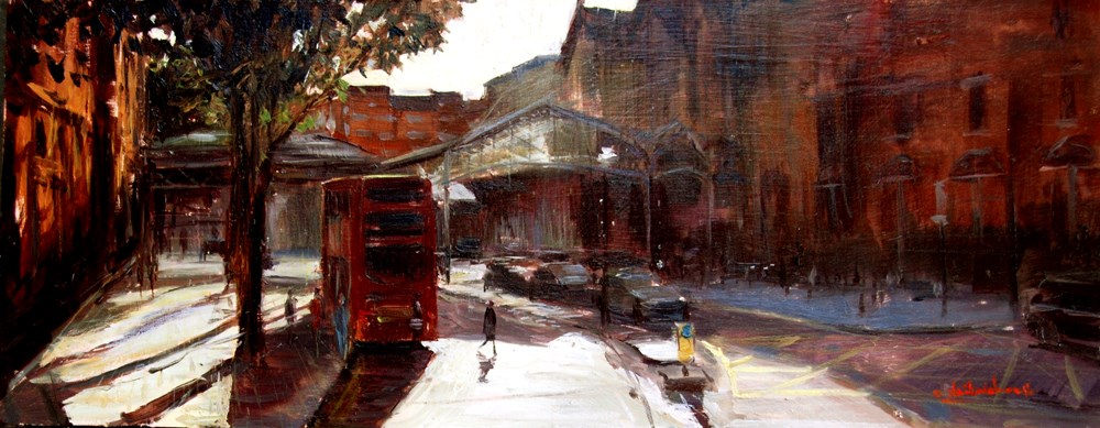 """Summer shadows, Marylebone"" original fine art by Adebanji Alade"