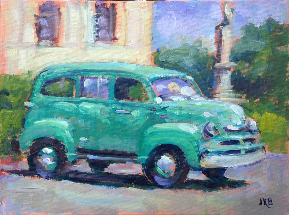 """Vintage Suburban"" original fine art by Jeanne Bruneau"