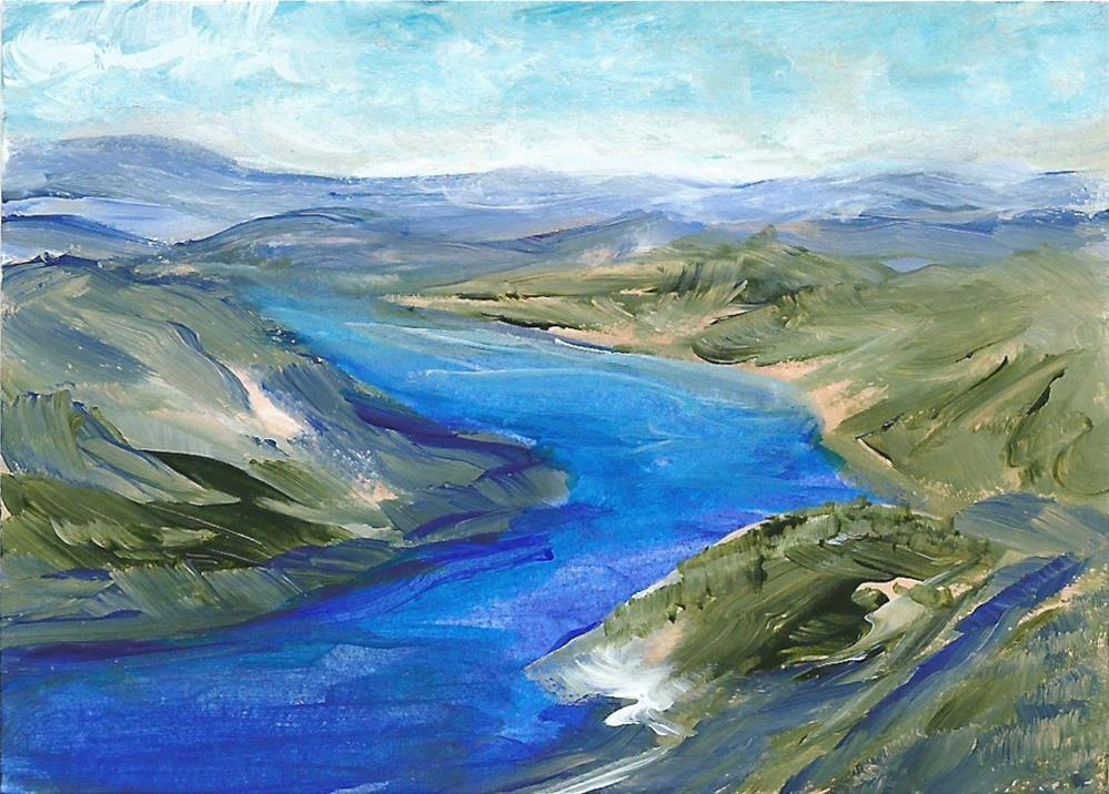 """6089 - OKANAGAN VIEW ACEO"" original fine art by Sea Dean"