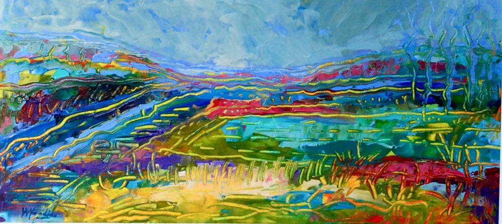 """Mississippi Delta"" original fine art by Vicki Wood"