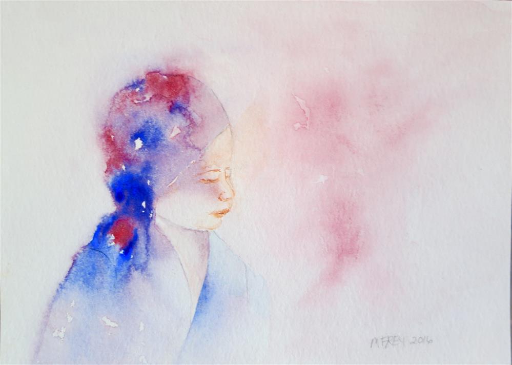 """GIrl 0124"" original fine art by Michelina Frey"